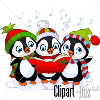 CLIPART PENGUIN CHRISTMAS CHORAL.