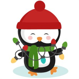 Free Penguin Christmas Tag Clipart.
