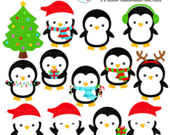 Free Christmas Penguin Clipart.