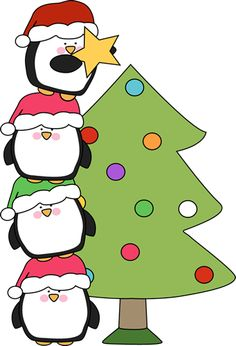 Christmas Penguin Clip Art.