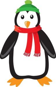 Christmas Penguin Clip Art.