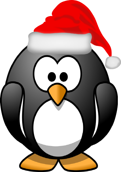 Free Clipart Of Christmas Cartoon Penguins.