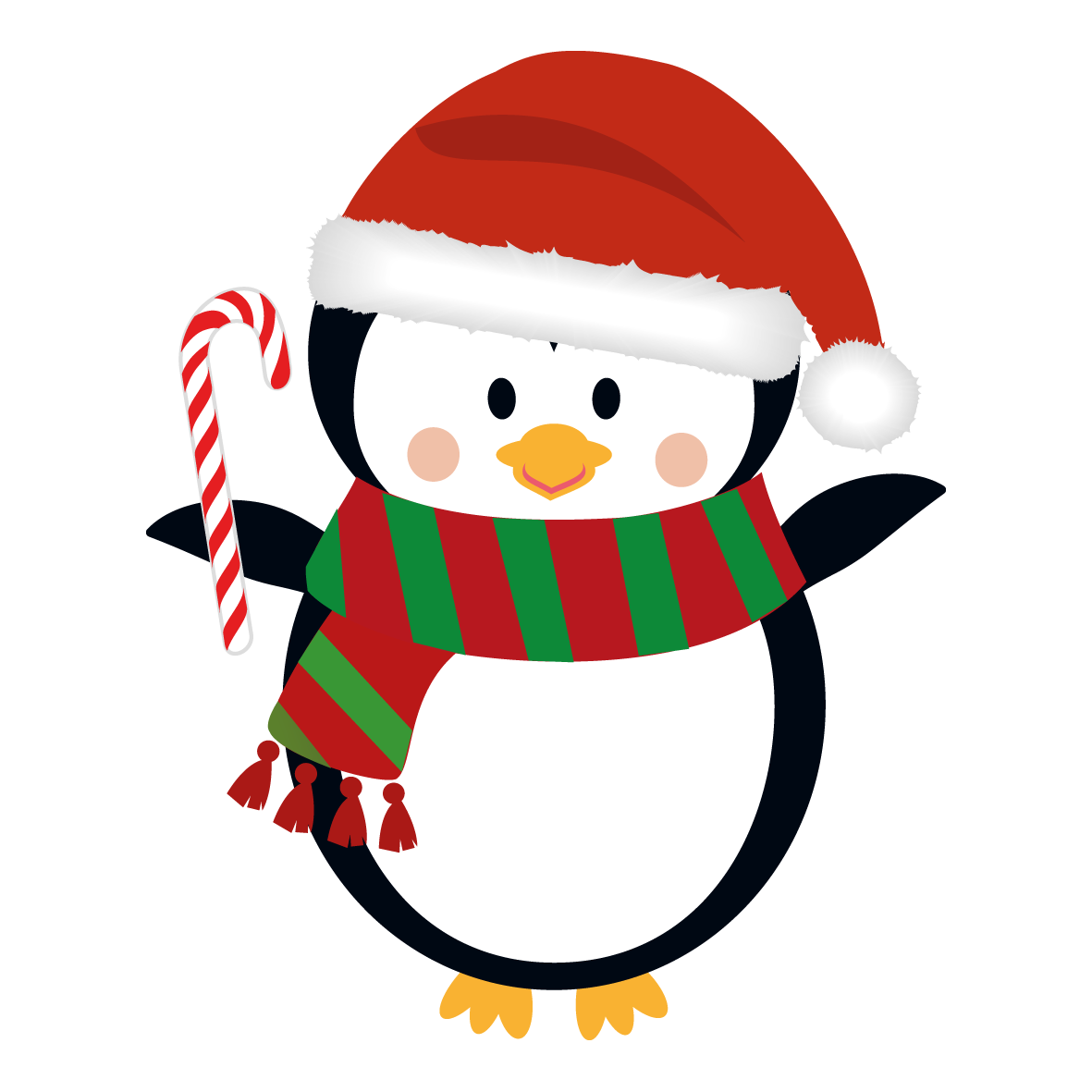 Christmas Penguins Clip Art Free.