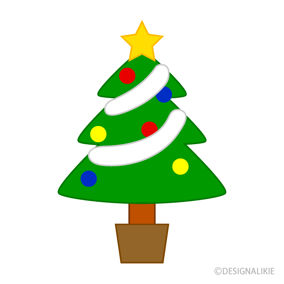 Free Simple Christmas Tree Clipart Image|Illustoon.