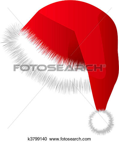 Clipart of saint red hat christmas cap k3799140.
