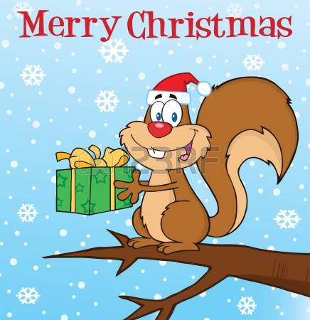 658 Christmas Squirrel Stock Illustrations, Cliparts And Royalty.