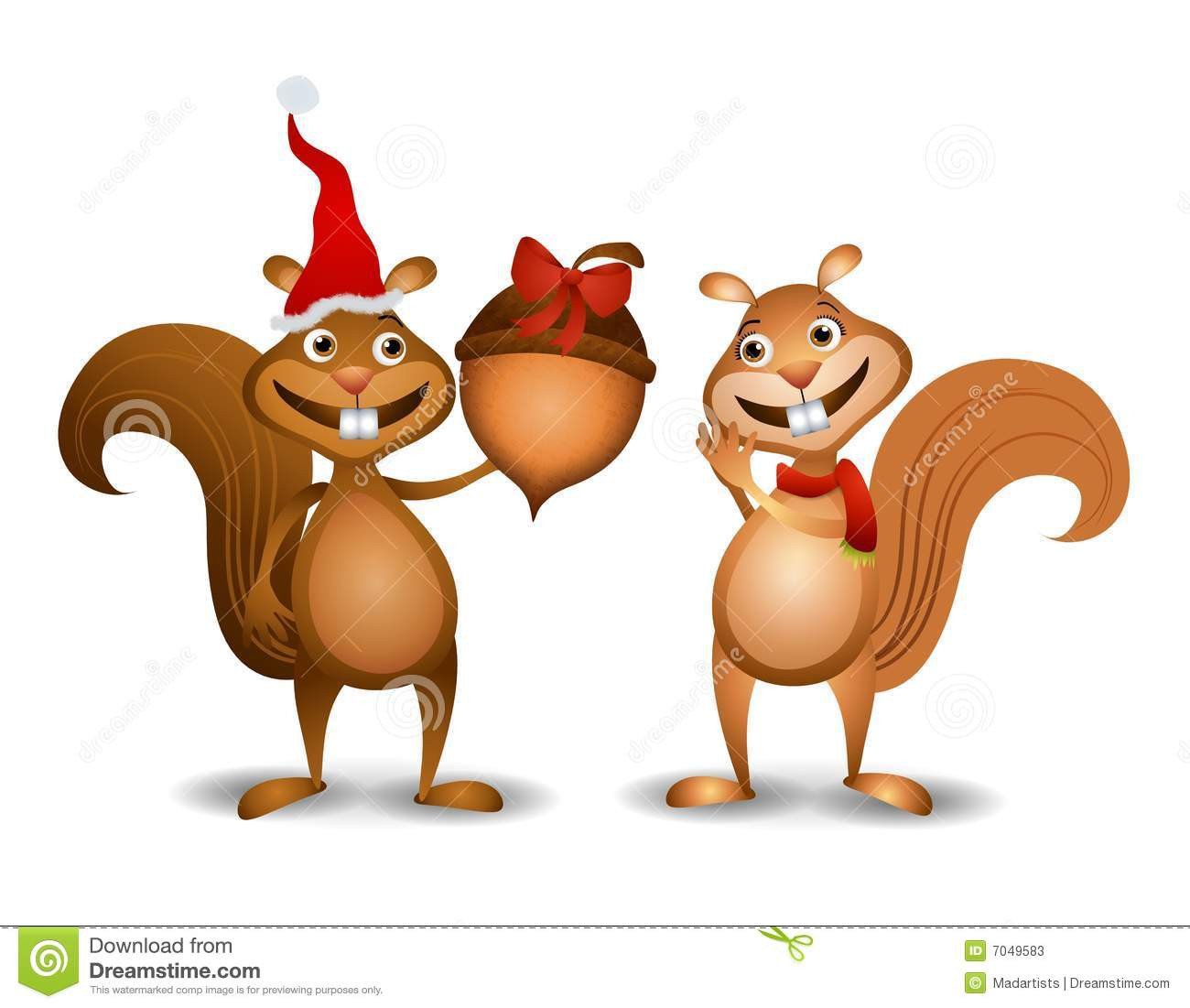Clipart christmas squirrels.