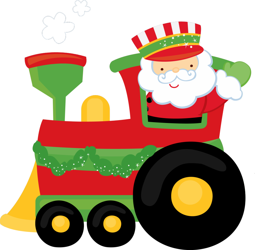 Download Christmas Train Clipart.