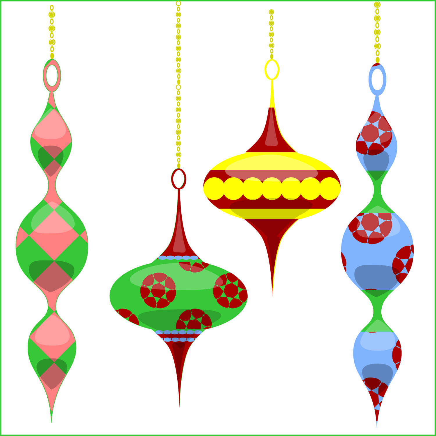 clipart christmas tree ornaments - Clipground