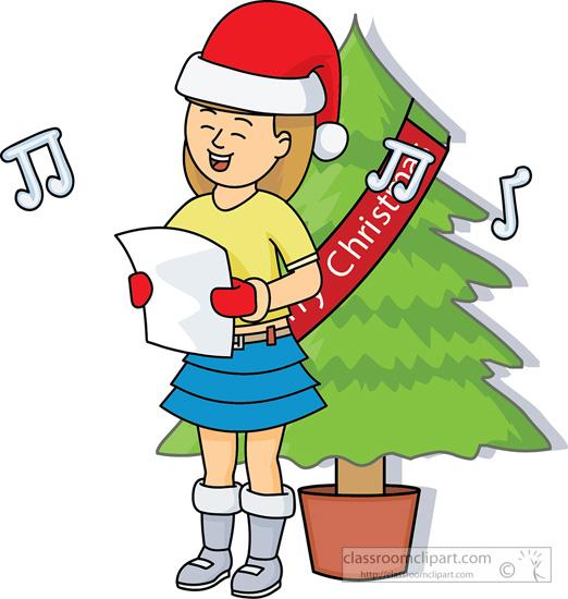 Christmas Clipart : girl.
