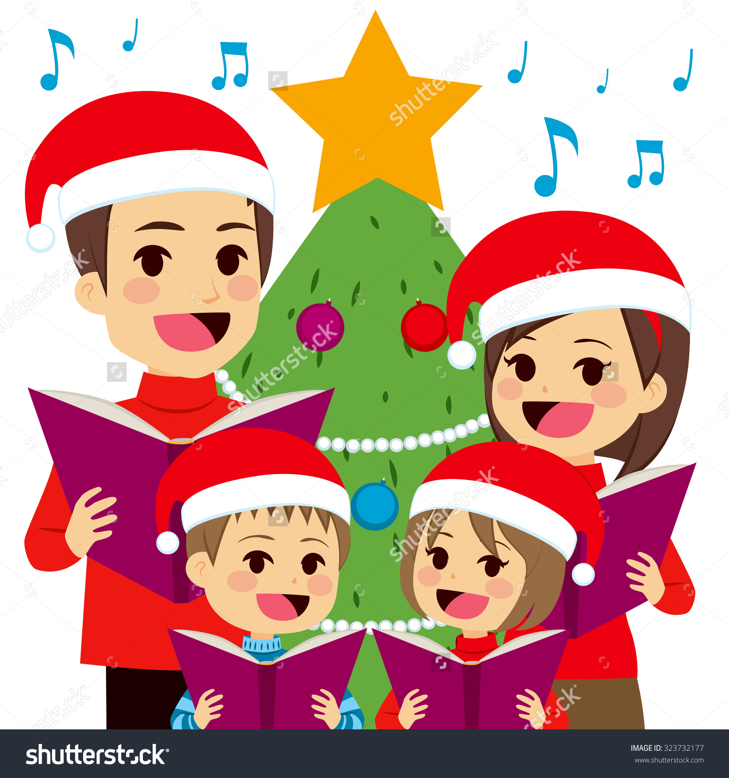 Singing Christmas Tree Clipart.