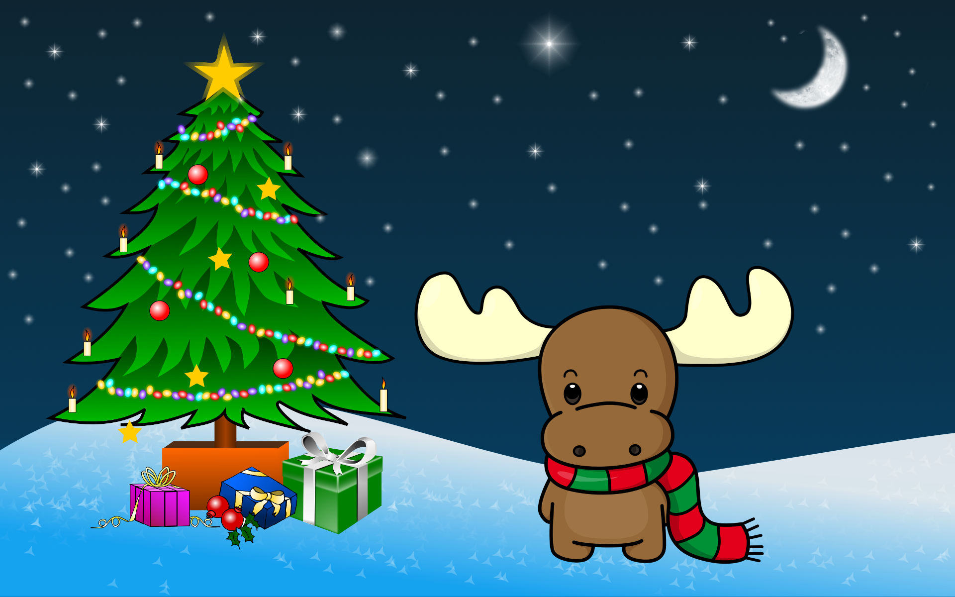 Clipart Christmas HD wallpaper.