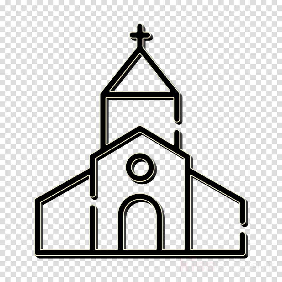 Happiness icon Church icon clipart.