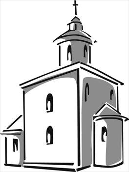 religion church black white outline clipart size 52 kb.