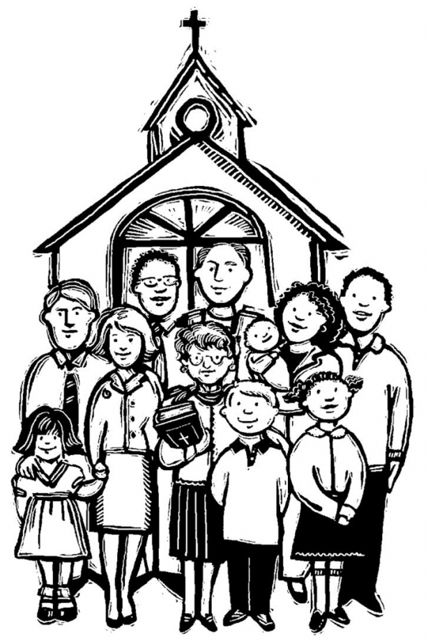 Clipart family going to church collection.
