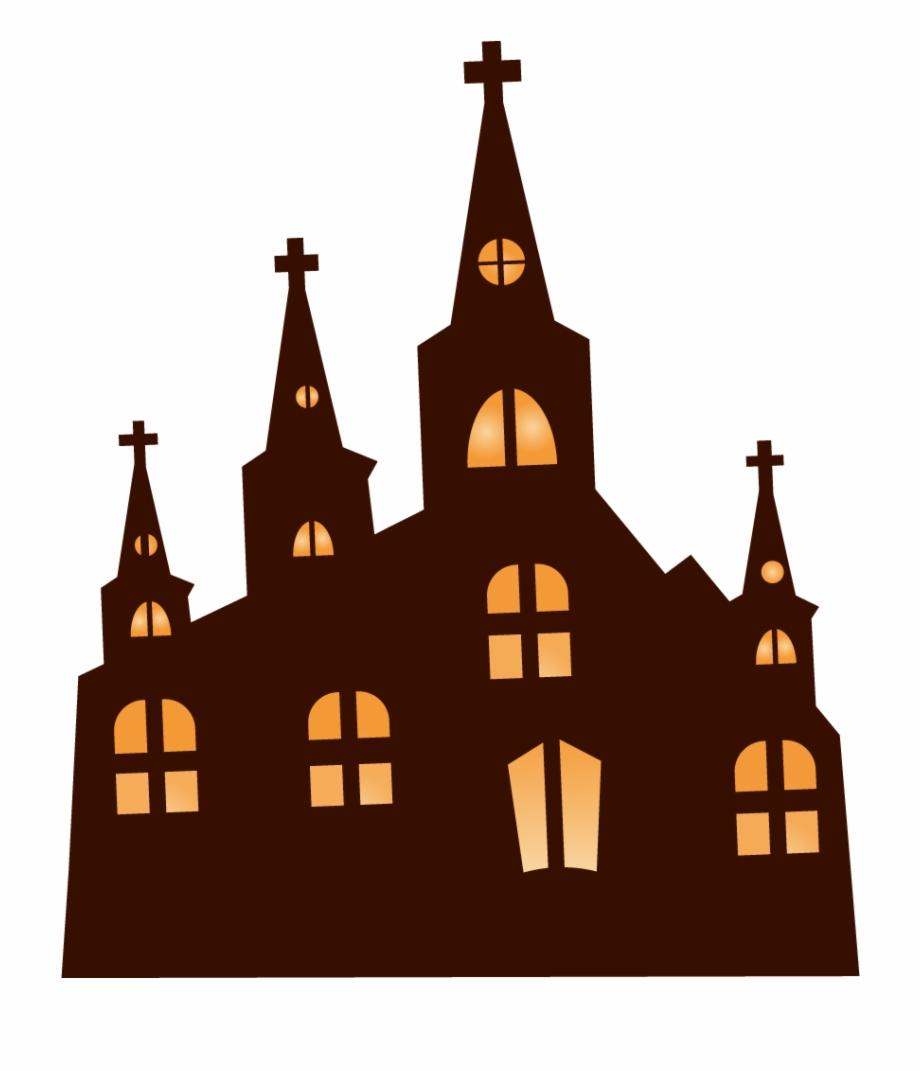 Church Clipart Haunted.