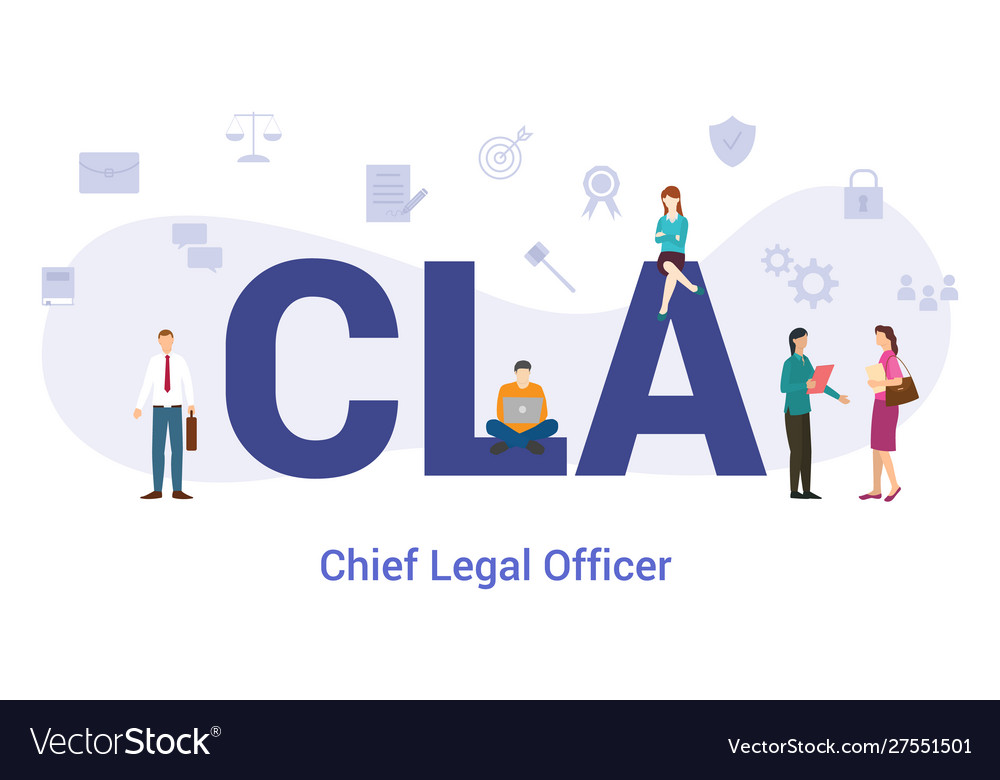 Cla chief legal officer acronym term concept with.