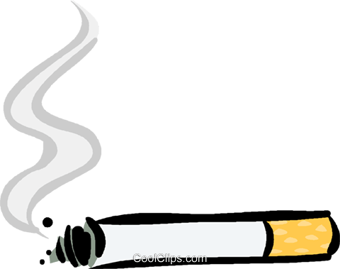cigarette Royalty Free Vector Clip Art illustration.