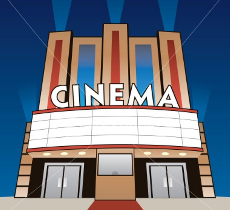 Movie Theaters Clipart.