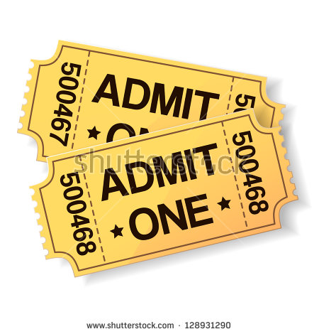 Movie Ticket Stock Images, Royalty.