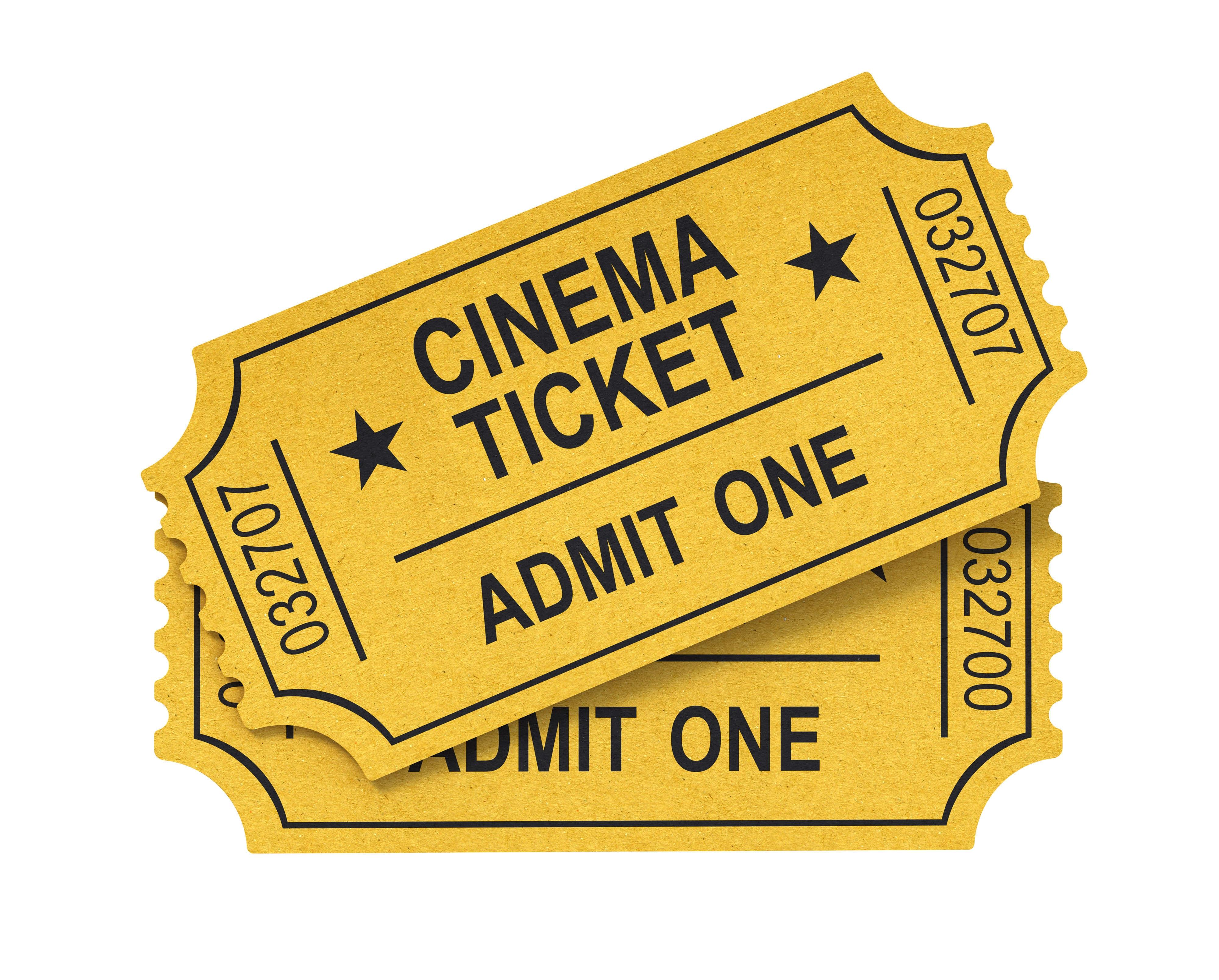 clipart cinema ticket - Clipground