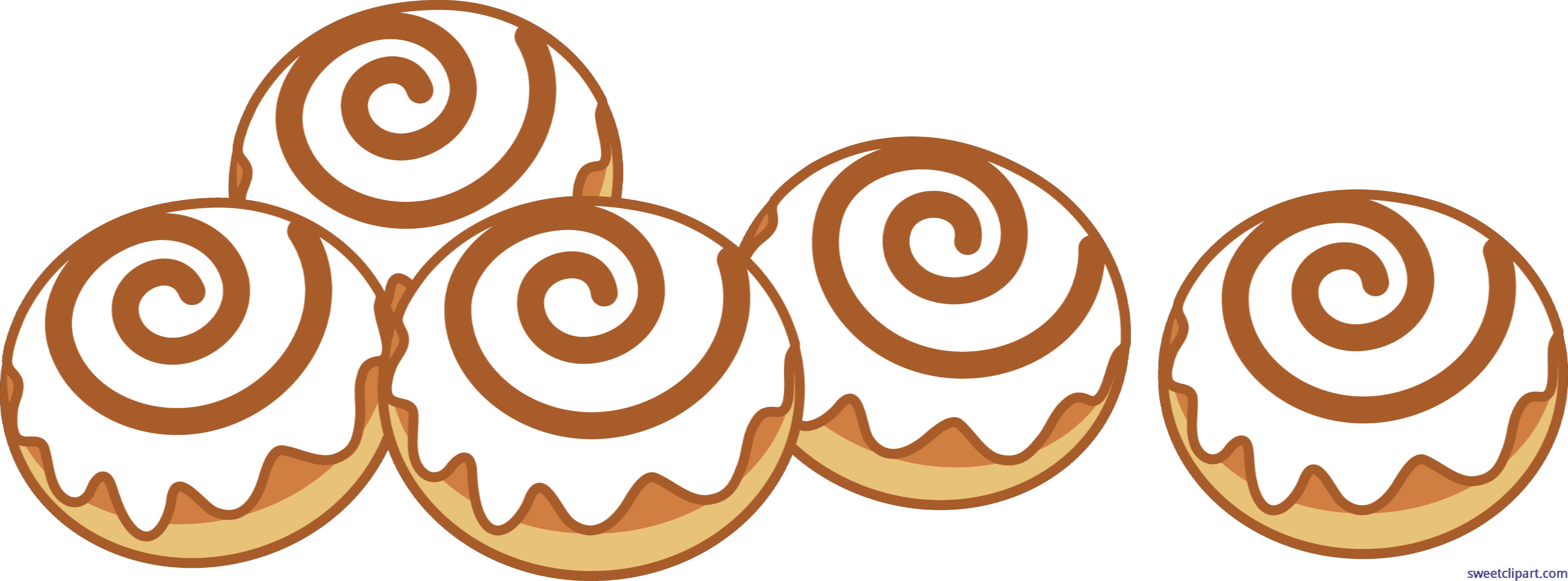 Cinnamon Rolls Set 5 Clip Art.