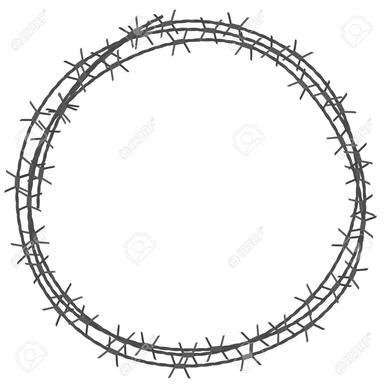 Barbed wire circle border » Clipart Portal.