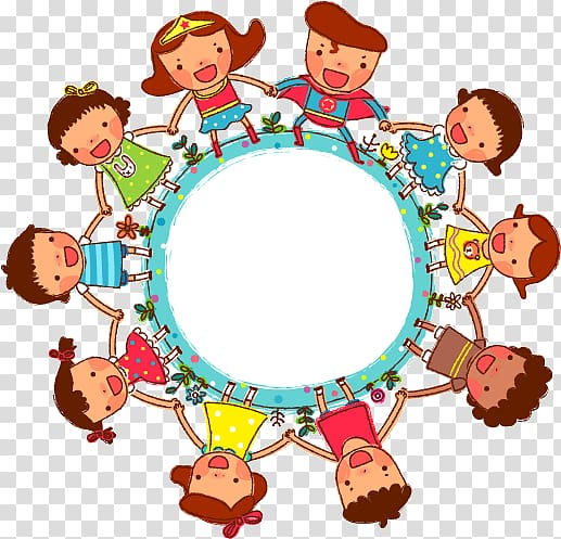 Circle of friends artwork, Childrens Day , Cartoon children.