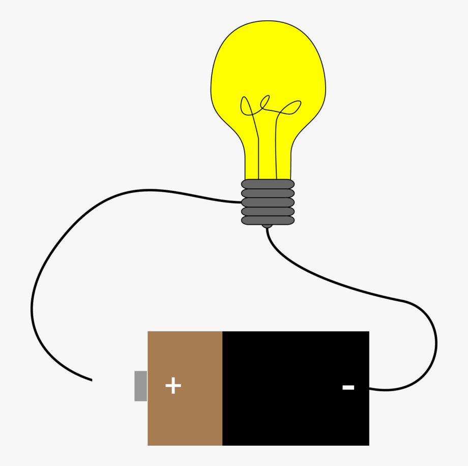 Electric clipart simple circuit, Electric simple circuit.