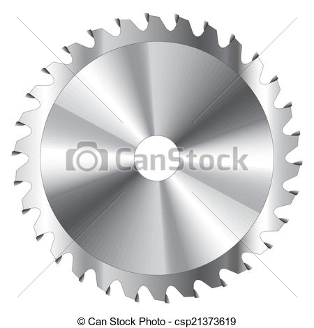 Vector Clip Art of Circular Saw Blade.