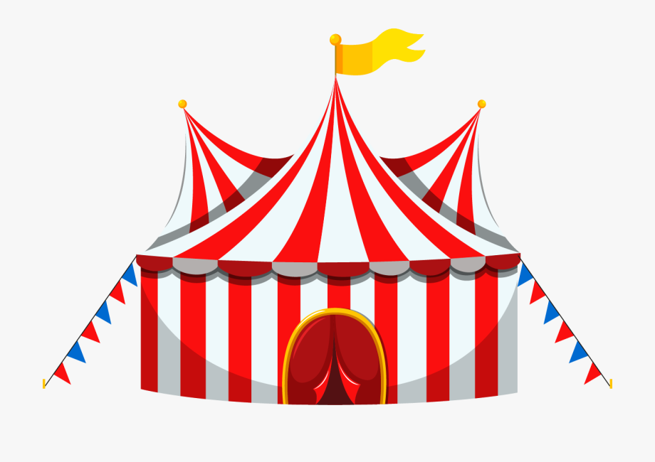 Circus Tent And Ticket Booth , Transparent Cartoon, Free.