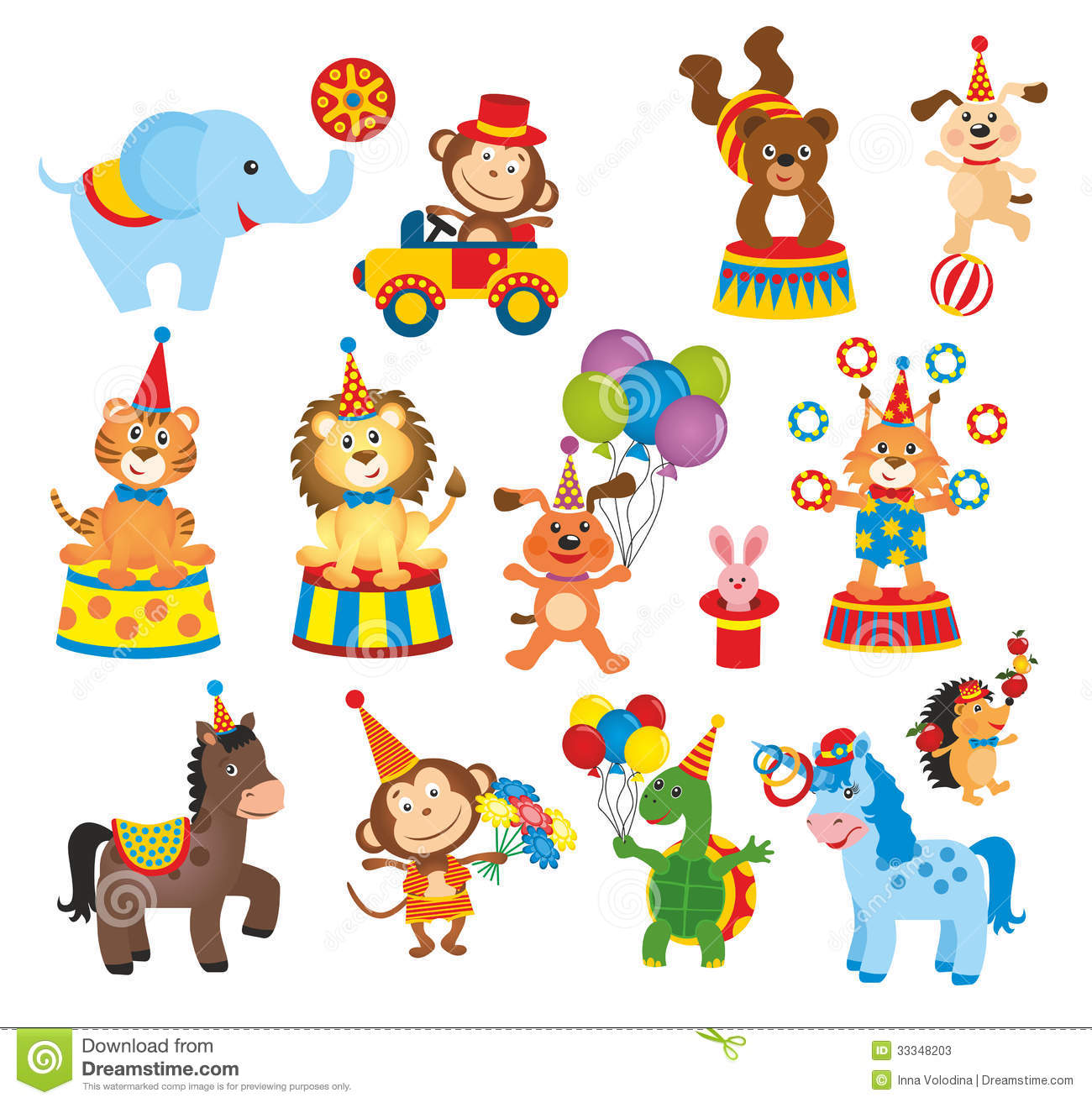 Circus Animal Clipart Free.