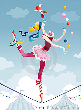 Woman In Circus Clipart.