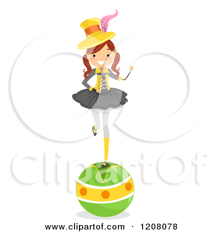 Clipart Circus Woman Performer.