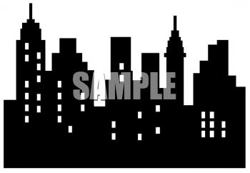 city skyline clip art.
