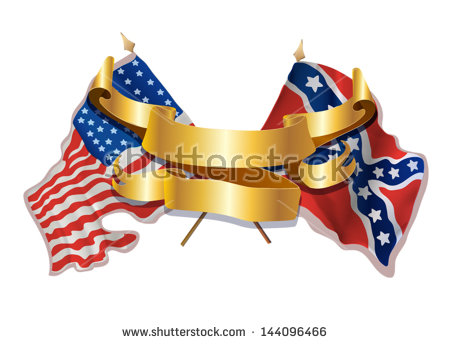 Civil War Flags Stock Images, Royalty.