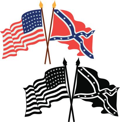 Clipart Civil War Flag.