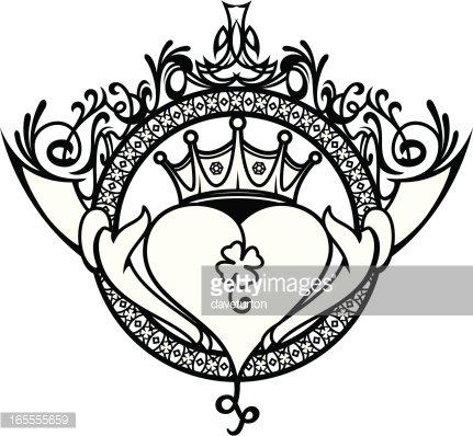 Claddagh Irish Symbol Clipart Image.