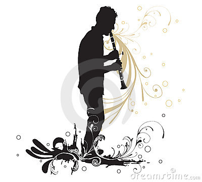 Clipart Clarinet Silhouette.
