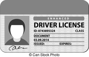 Driving Licence Clipart.