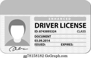 Drivers License Clip Art.
