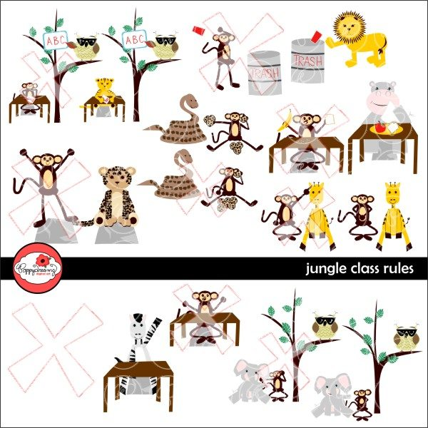 Jungle Rules Class Rules Clipart by Poppydreamz.