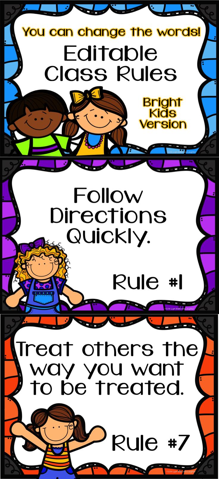Editable Class Rules.