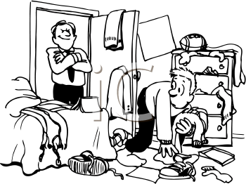 Clean Bedroom Clipart.