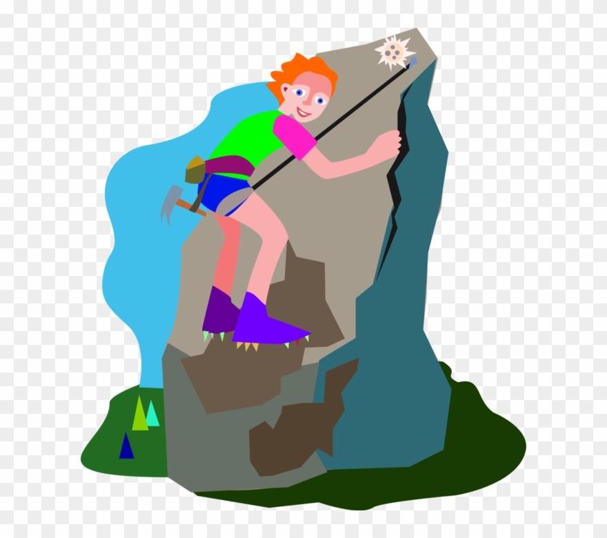 Mountain Climb Clipart.