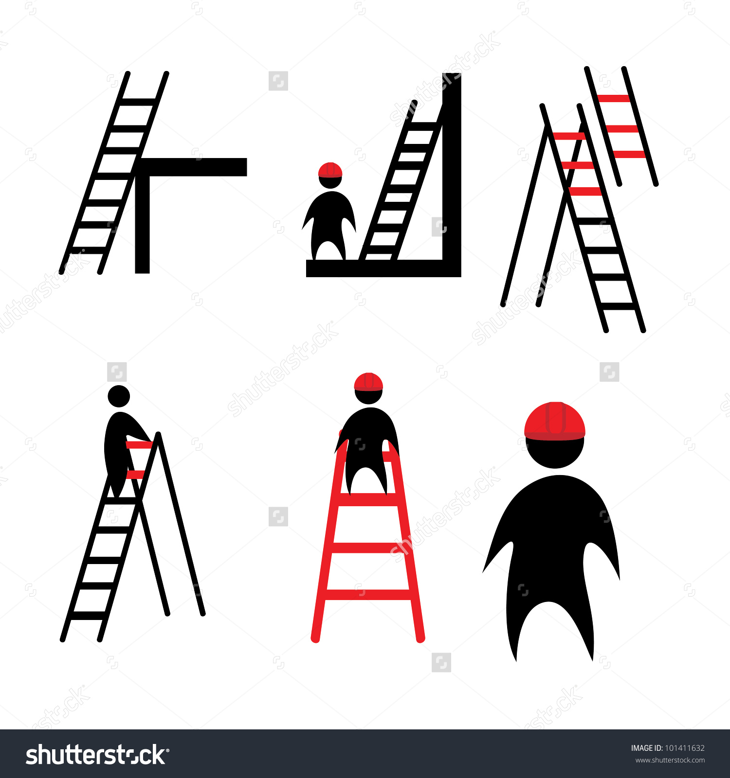 Clipart Ladder Stock Vector Illustration 101411632 : Shutterstock.