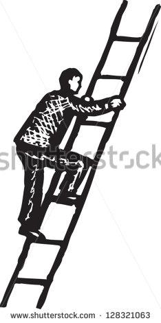 Man Climbing Ladder Stock Images, Royalty.
