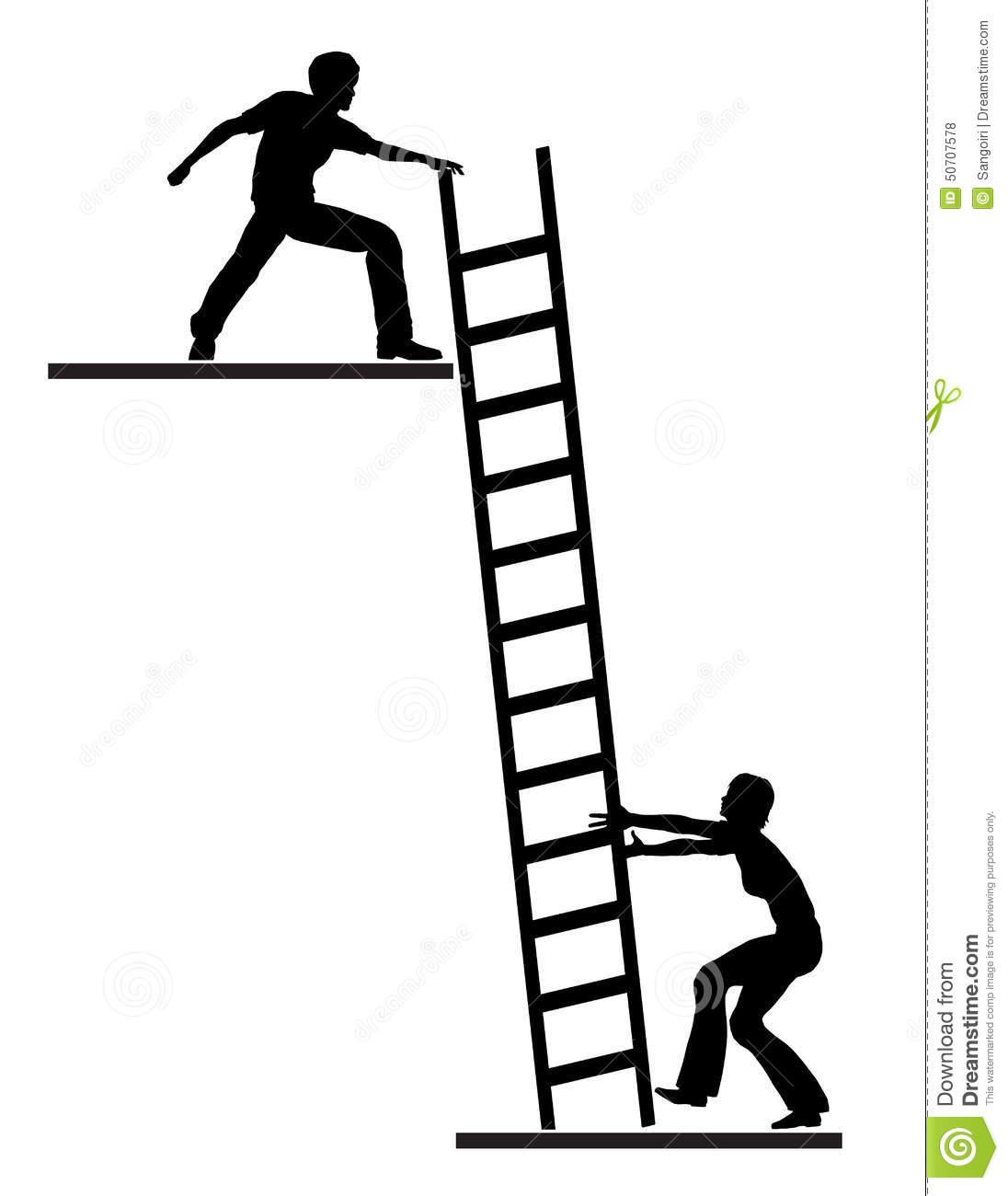 Job Mentoring Stock Illustration.