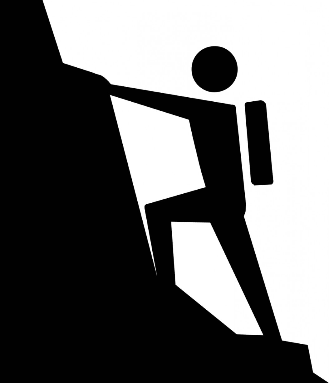 Mountain Climber Clipart Man Mountain Climbing Clipart.