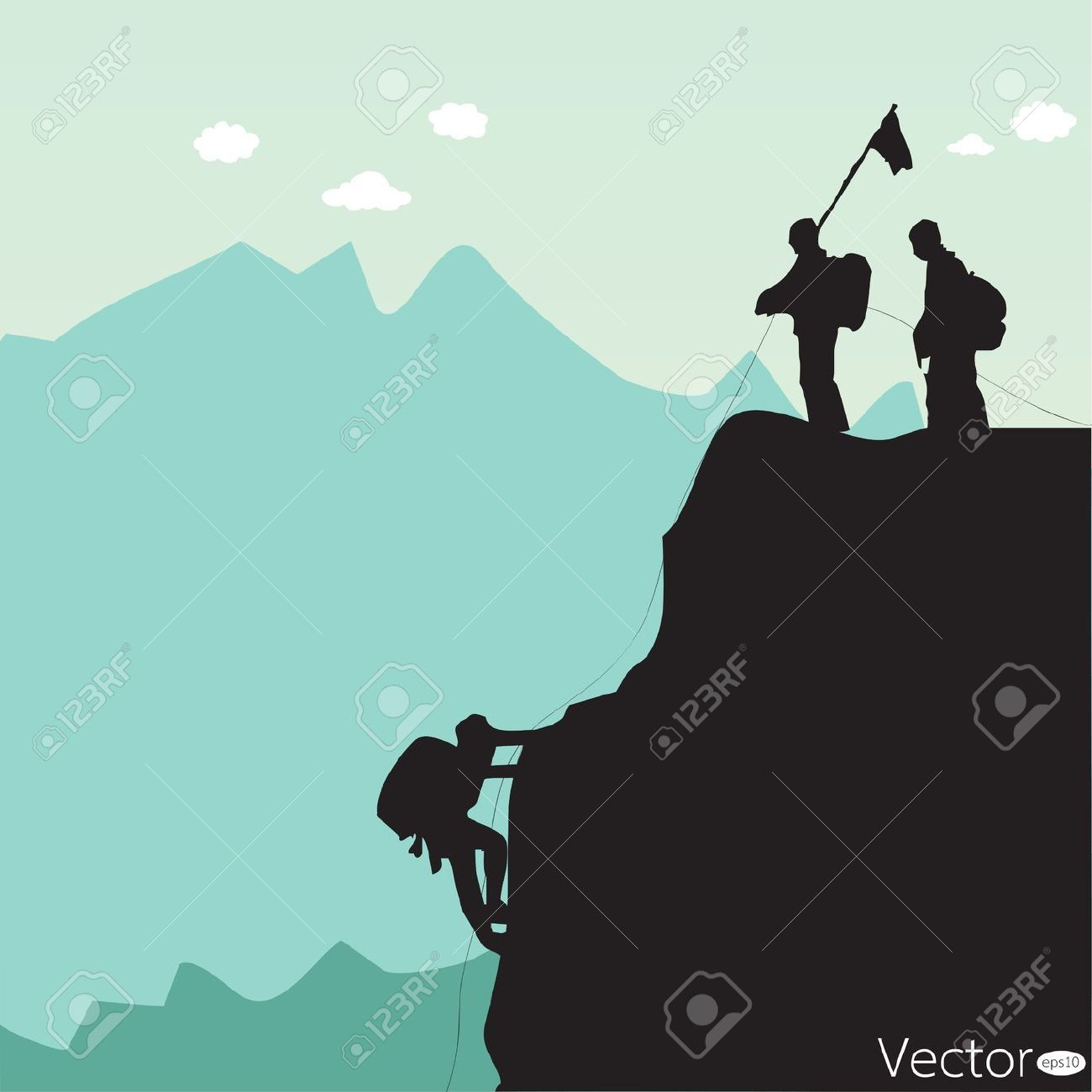 Climbing Mountain Stock Vector Illustration And Royalty Free.